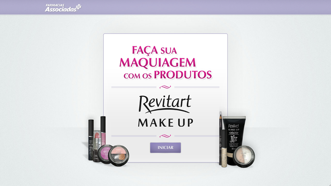 HOTSITE + APLICATIVO INTERATIVO REVITART MAKE UP